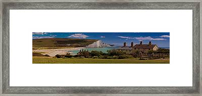 The Seven Sisters And The Coastguard Cottages Framed Print