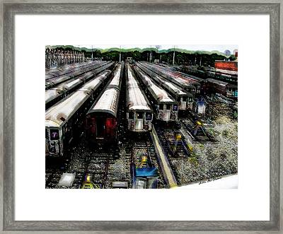 The Seven Train Yard Queens Ny Framed Print