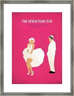 The Seven Year Itch Framed Print by Fraulein Fisher