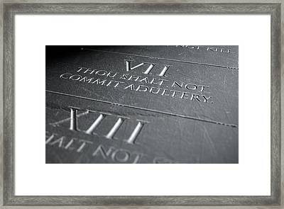 The Seventh Commandment Framed Print
