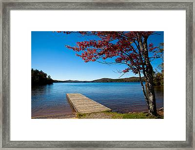 The Seventh Lake Boat Ramp Framed Print by David Patterson