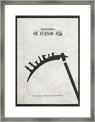 The Seventh Seal Aka Det Sjunde Inseglet Framed Print by Ayse Deniz