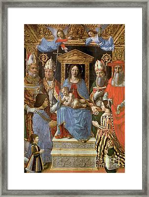 The Sforza Altarpiece Framed Print by Master of the Pala Sforzesca