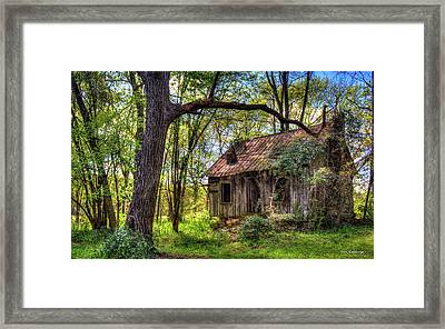 The Shack Aunt Mitiz Place Art Framed Print by Reid Callaway