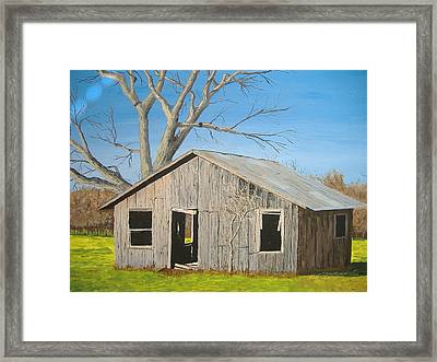 Framed Print featuring the painting The Shack by Norm Starks