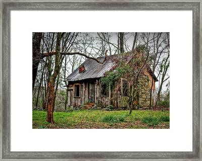 The Shack Rural Georgia Art Framed Print by Reid Callaway