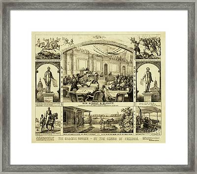 The Shackle Broken By The Genius Of Freedom Framed Print by American School