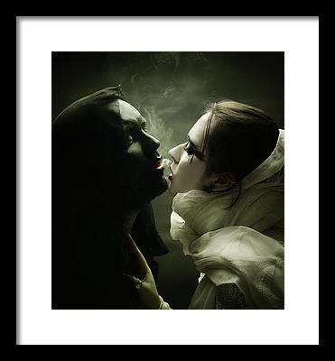 Angels Smoking Framed Prints