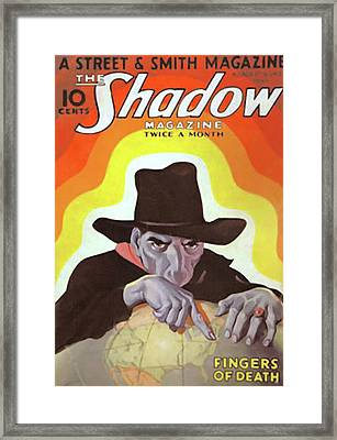 The Shadow Fingers Of Death Framed Print