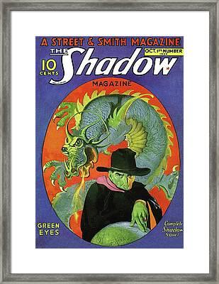 The Shadow Green Eyes Framed Print