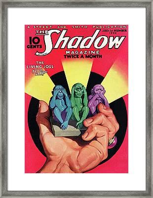 The Shadow The Living Joss Framed Print