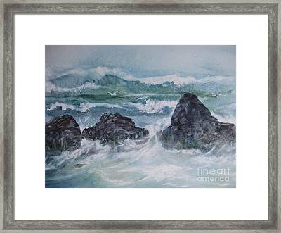 The Shallow Break Framed Print