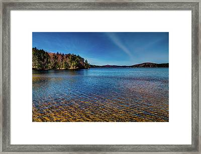 The Shallow Water Of 7th Lake Framed Print
