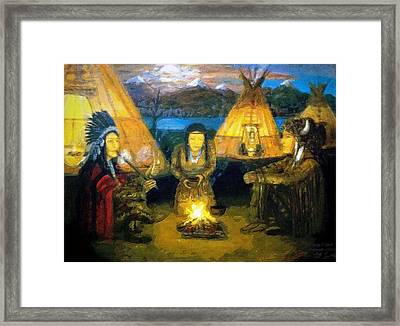The Shamans Council Framed Print by Larry Lamb