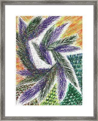 The Shaman's Journey #615 Framed Print by Rainbow Artist Orlando L aka Kevin Orlando Lau