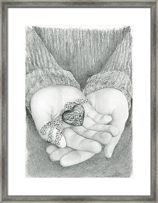 The Shape Of My Heart Framed Print