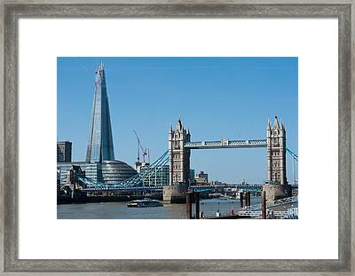 The Shard With Tower Bridge Framed Print