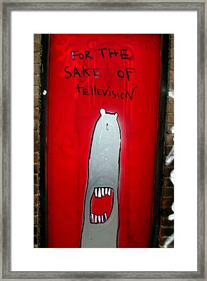 The Sharker Side Of Tv Framed Print by Jez C Self