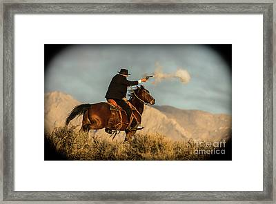 The Sharp Shooter Western Art By Kaylyn Franks Framed Print