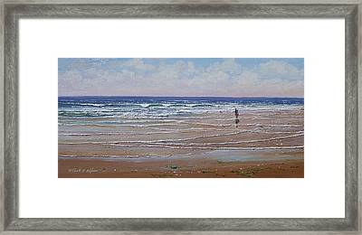 The Shell Collector Framed Print by Frank Wilson