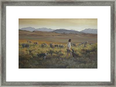 The Shepherdess Framed Print by Mia DeLode
