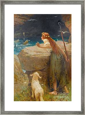 The Shepherdess Framed Print by MotionAge Designs