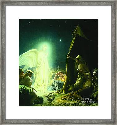 The Shepherds And The Angel Framed Print by MotionAge Designs