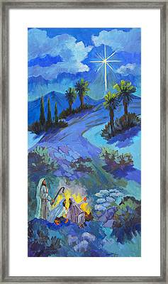 The Shepherds And The Star Framed Print by Diane McClary
