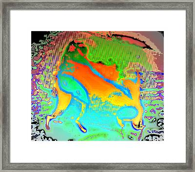It Is Time For The Shepherds' Dance Again  Framed Print by Hilde Widerberg