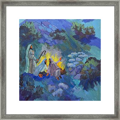 The Shepherds Framed Print by Diane McClary