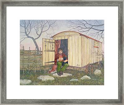 The Shepherd's Hut Framed Print by Ditz