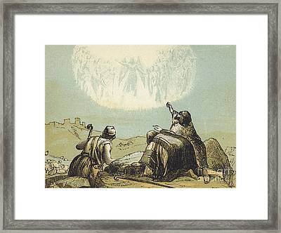 The Shepherds In The Field Framed Print by English School