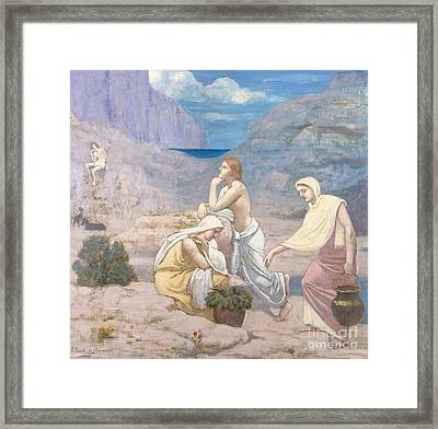 The Shepherd's Song, 1891 Framed Print