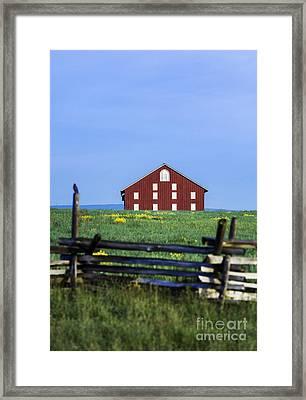 The Sherfy Farm At Gettysburg Framed Print by John Greim