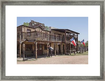 The Sheriff In Town At The Enchanted Springs Ranch And Old West Theme Park Framed Print by Carol M Highsmith