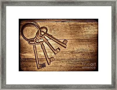 The Sheriff Jail Keys Framed Print
