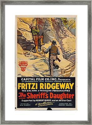 The Sheriff's Daugher 1920 Framed Print