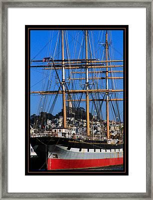 The Ship Balclutha Framed Print