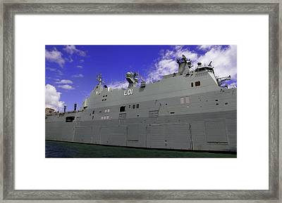 The Ship Is Huge Framed Print