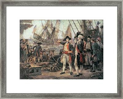 The Ship That Sank The Victory Framed Print by Jean Leon Jerome Ferris