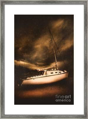 The Shipwreck And The Storm Framed Print