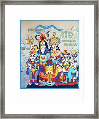 The Shiva Family Framed Print
