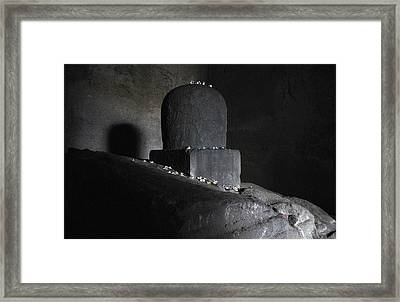 The Shiva Lingm  Framed Print by Chris Jurgenson