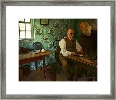 The Shoe Maker Framed Print by Louise Reeves