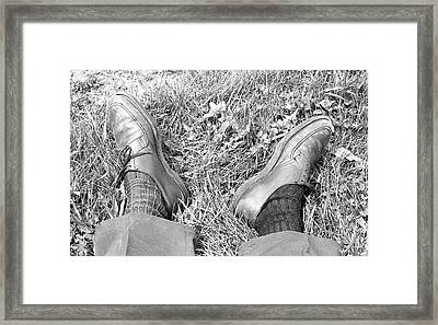 The Shoes Of A Teaching Assistant, 1979 Framed Print