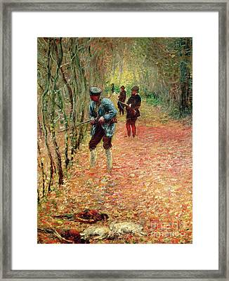 The Shoot Framed Print by Claude Monet