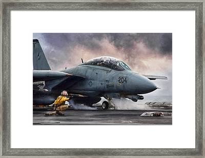 The Shooter Framed Print by Peter Chilelli