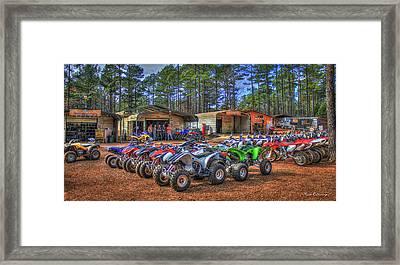 The Shop Durhamtown Plantation Motocross Rentals Art Framed Print by Reid Callaway