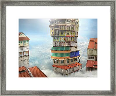 The Shop Towers Framed Print by Andrew Kow