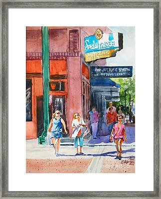 The Shoppers Framed Print by Ron Stephens
